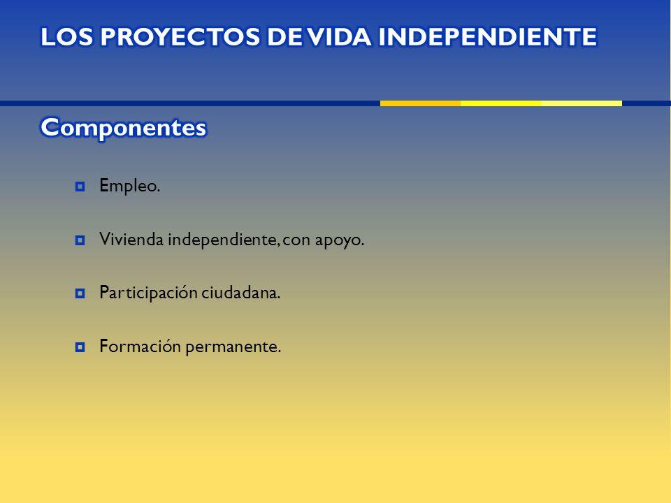 Contenido, basado en los proyectos de vida independiente.