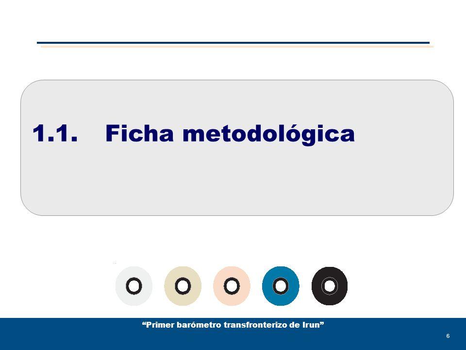 Primer barómetro transfronterizo de Irun 37 1.5.Síntesis diagnóstica