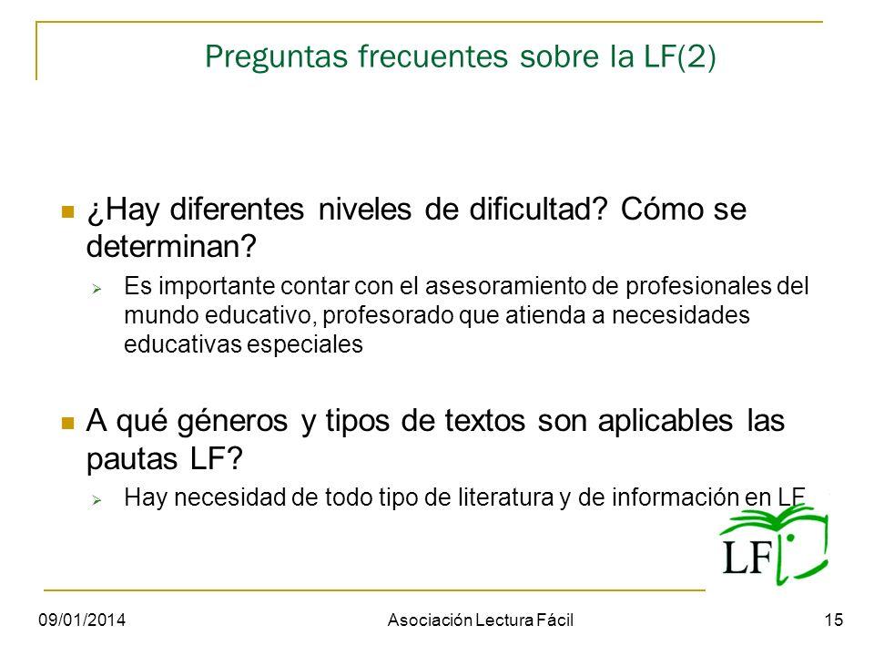 Preguntas frecuentes sobre la LF(2) ¿Hay diferentes niveles de dificultad? Cómo se determinan? Es importante contar con el asesoramiento de profesiona