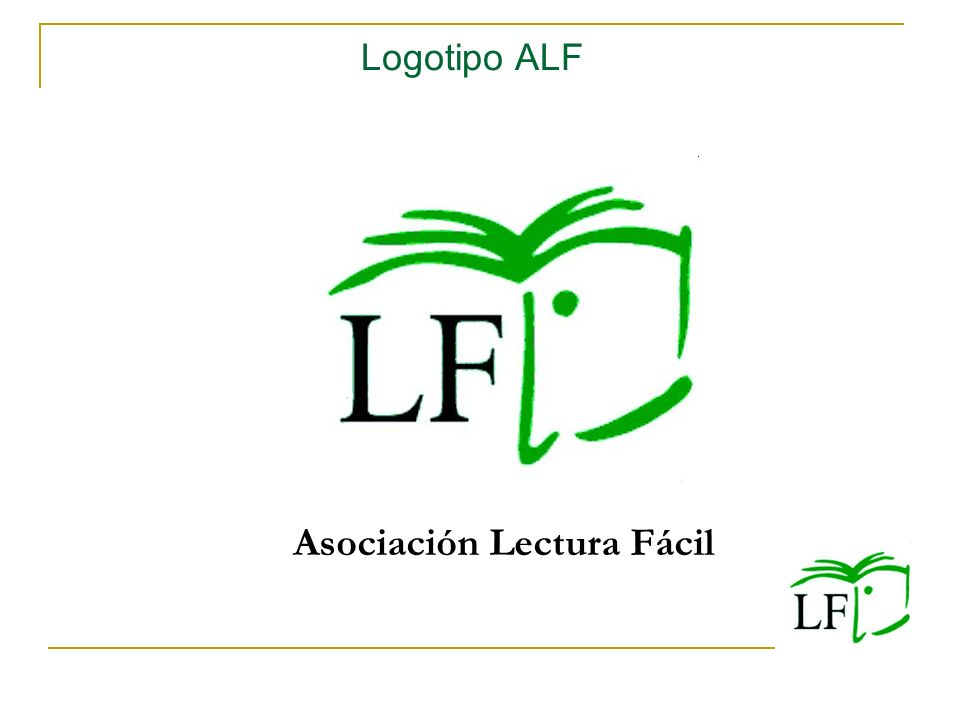 Logotipo ALF Asociación Lectura Fácil