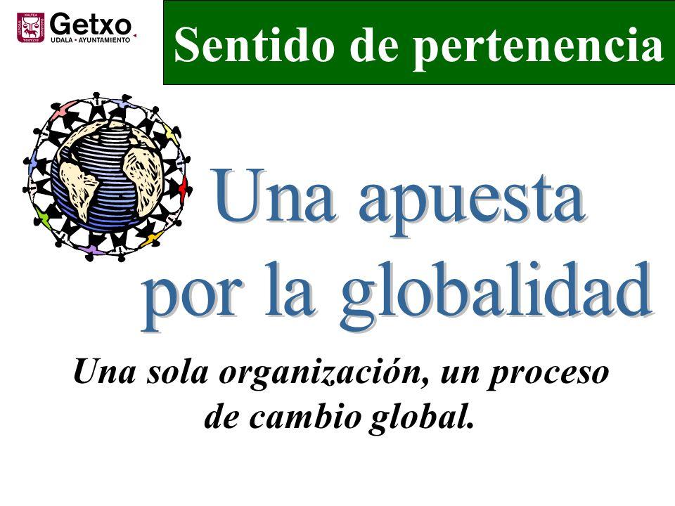 Sentido de pertenencia Una sola organización, un proceso de cambio global.