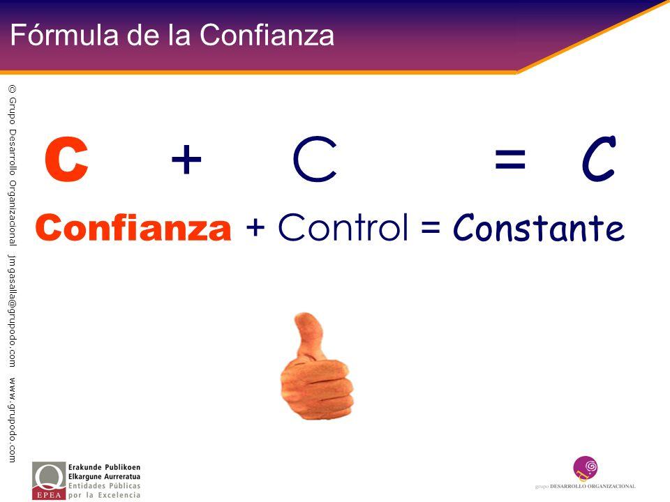 Fórmula de la Confianza C + C = C Confianza + Control = Constante © Grupo Desarrollo Organizacional jmgasalla@grupodo.com www.grupodo.com