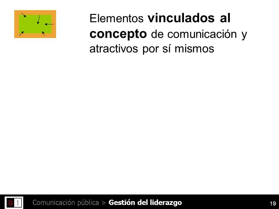 19 Comunicación pública > Elementos vinculados al concepto de comunicación y atractivos por sí mismos Gestión del liderazgo