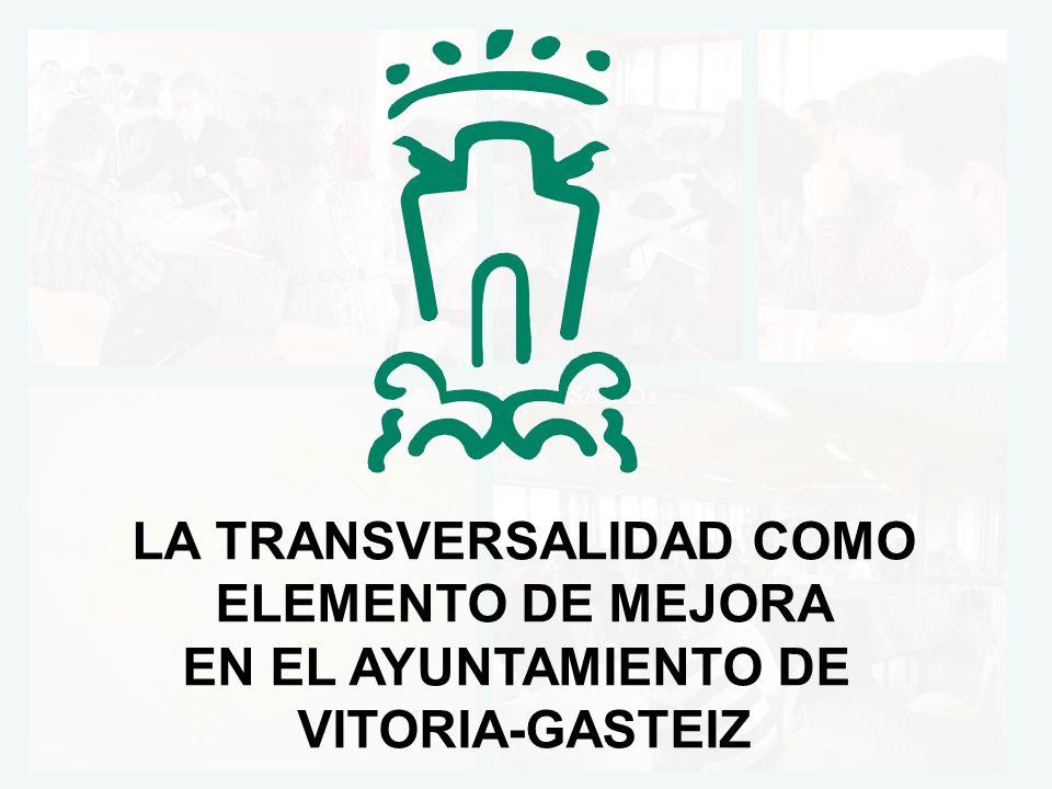LA TRANSVERSALIDa LA TRANSVERSALIDAD COMO ELEMENTO DE MEJORA EN EL AYUNTAMIENTO DE VITORIA-GASTEIZ