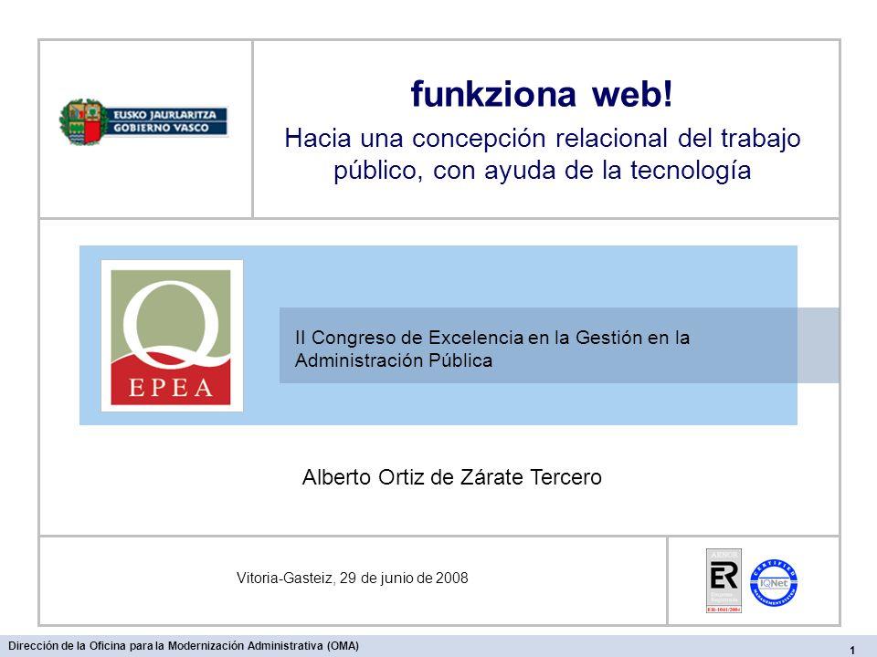 II Congreso de Excelencia en la Gestión en la Administración Pública Vitoria-Gasteiz, 29 de junio de 2008 funkziona web.