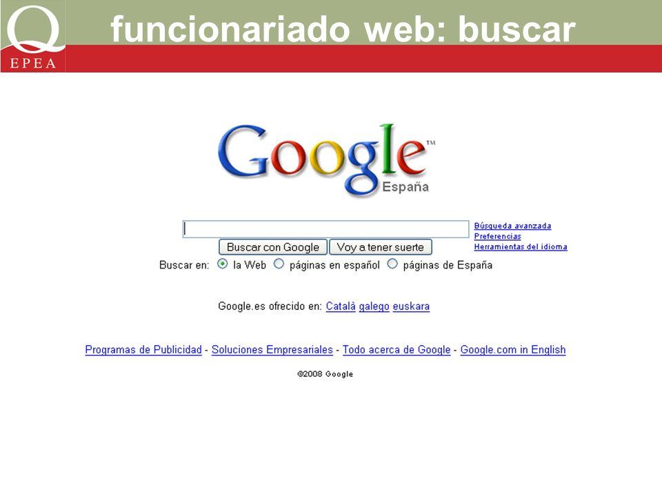 funcionariado web: buscar