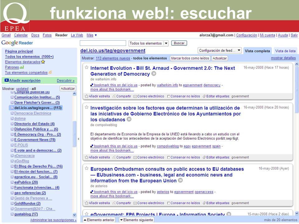 funkziona web!: escuchar