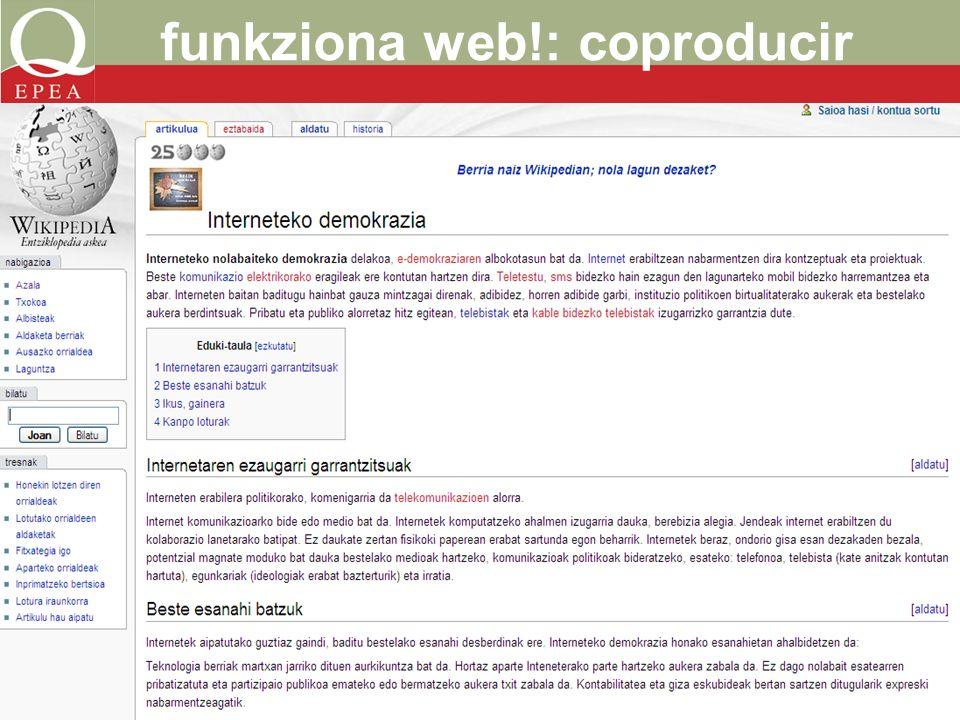 funkziona web!: coproducir