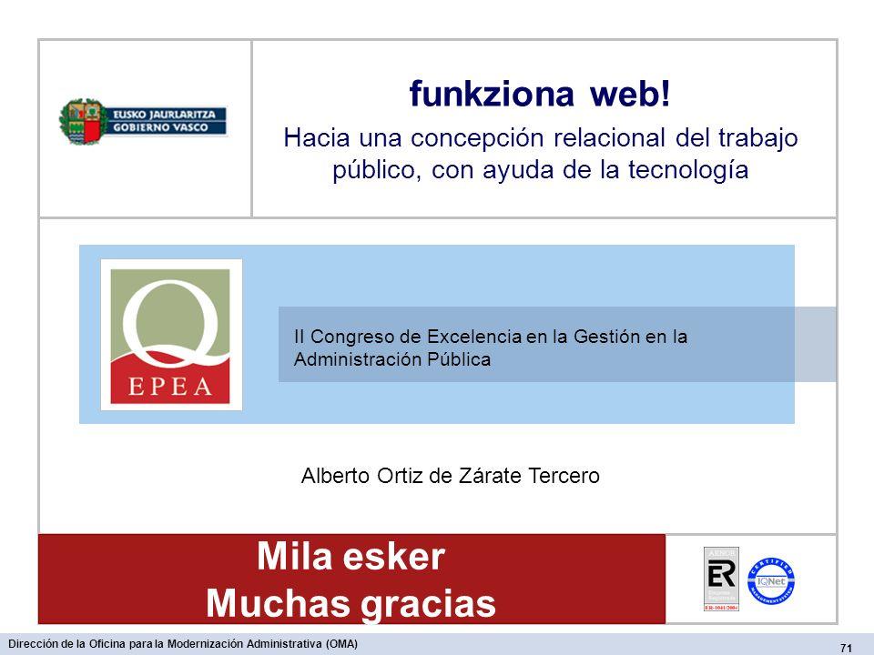 II Congreso de Excelencia en la Gestión en la Administración Pública funkziona web.