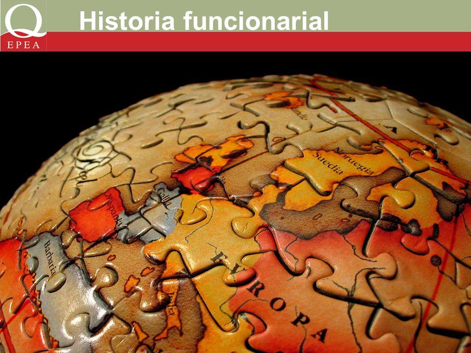 Historia funcionarial