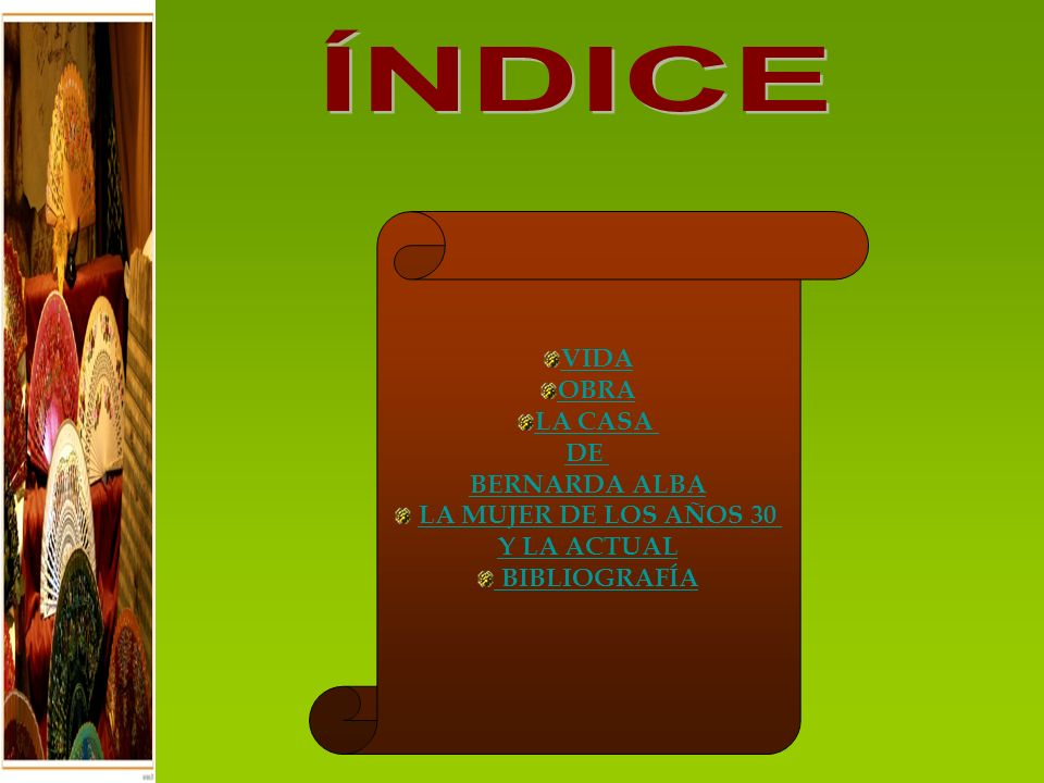 Índice 1898: 1898: Nace el poeta Federico García Lorca en Fuente Vaqueros, Granada.