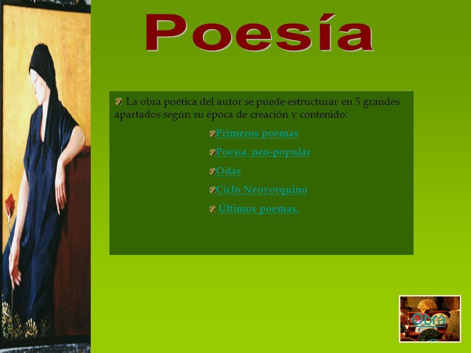 Los primeros poemas de Lorca están recopilados en Libro de poemas obra publicada en 1921.