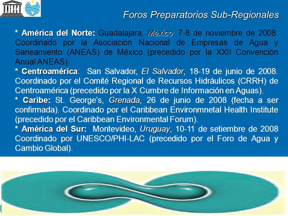 América del NorteMéxico * América del Norte: Guadalajara, México, 7-8 de noviembre de 2008. Coordinado por la Asociación Nacional de Empresas de Agua