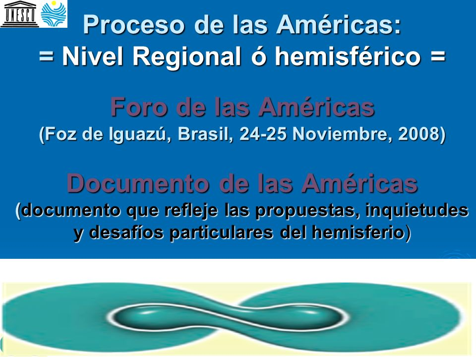 Proceso de las Américas: = Nivel Regional ó hemisférico = Foro de las Américas (Foz de Iguazú, Brasil, 24-25 Noviembre, 2008) Documento de las América