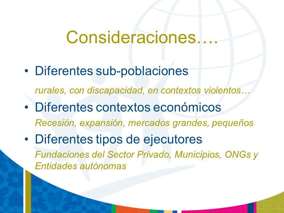 Consideraciones….