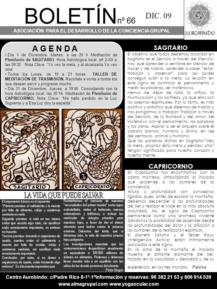 BOLETÍN nº 66 ASOCIACIÓN PARA EL DESARROLLO DE LA CONCIENCIA GRUPAL DIC.