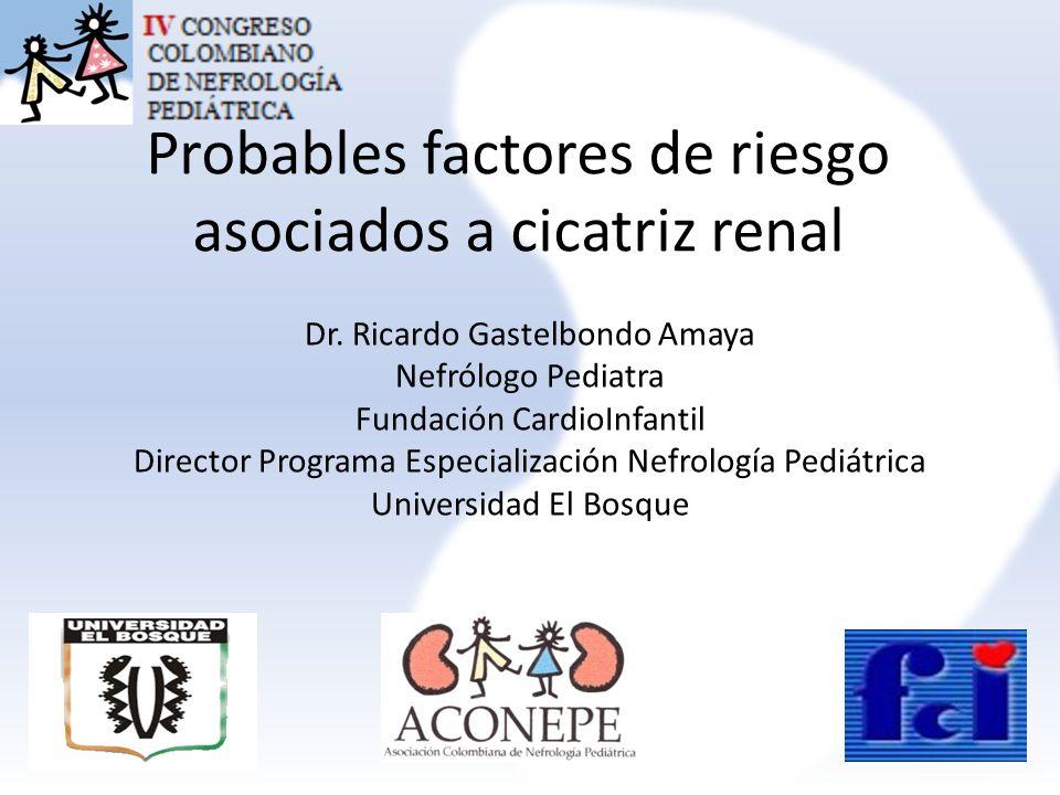 Cicatriz renal detectada mediante cintigrama renal DMSA en niños con primera pielonefritis aguda: estudio de factores de riesgo 59 pacientes 35 niñas -24 niños.