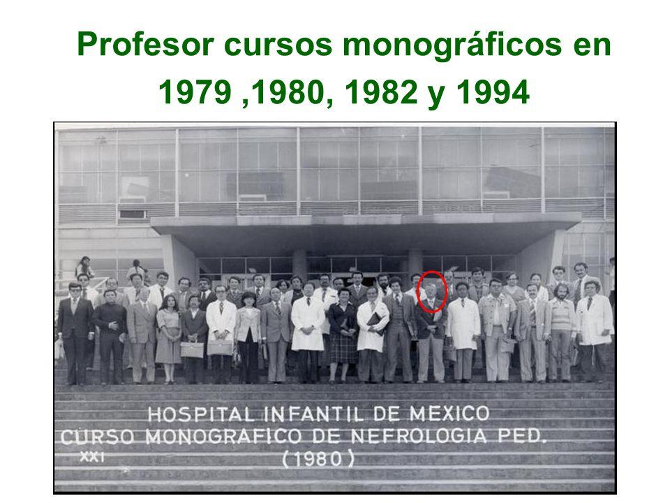 Profesor cursos monográficos en 1979,1980, 1982 y 1994