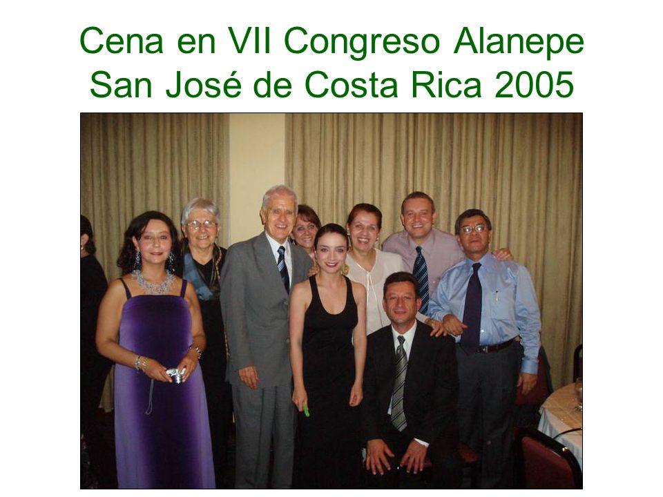Cali, 2005 Cena en VII Congreso Alanepe San José de Costa Rica 2005