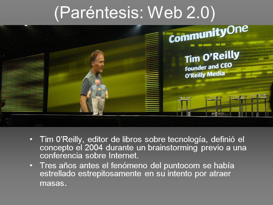 El concepto según 0Reilly Web 2.0 es la red como plataforma, involucrando todos los dispositivos conectados.