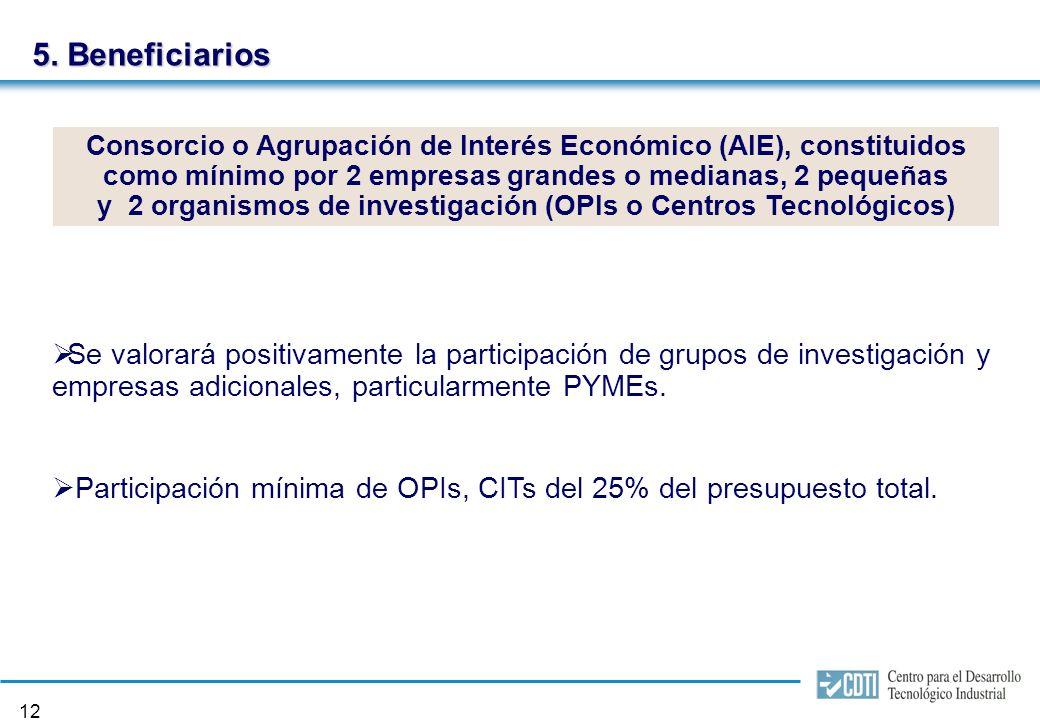 11 4. Áreas temáticas Biomedicina y Ciencias de la Salud (incluyendo Biotecnología).