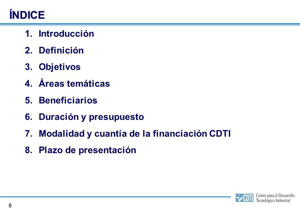 Programa CENIT Consorcios Estratégicos Nacionales en Investigación Técnica