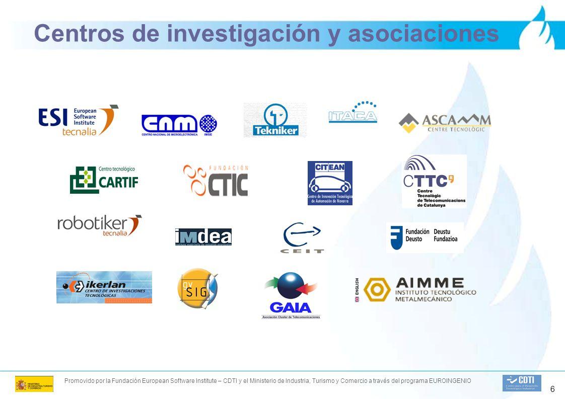 Promovido por la Fundación European Software Institute – CDTI y el Ministerio de Industria, Turismo y Comercio a través del programa EUROINGENIO 6 Centros de investigación y asociaciones