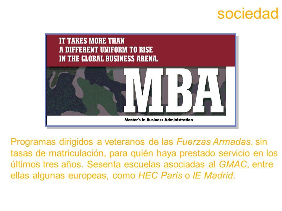 Programas dirigidos a veteranos de las Fuerzas Armadas, sin tasas de matriculación, para quién haya prestado servicio en los últimos tres años.