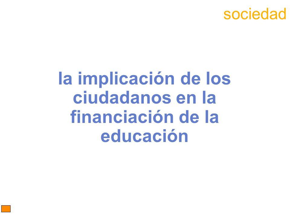 la implicación de los ciudadanos en la financiación de la educación sociedad