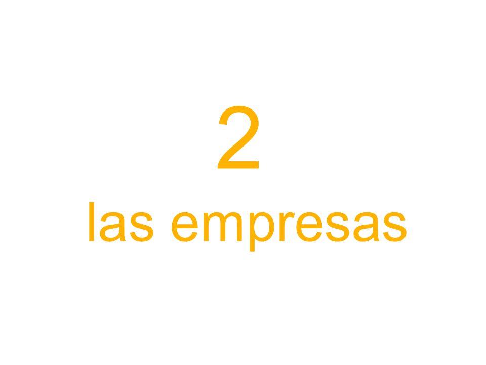 2 las empresas