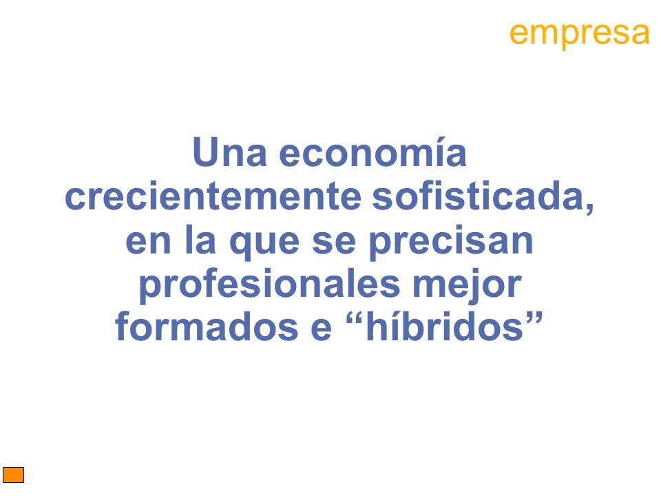 Una economía crecientemente sofisticada, en la que se precisan profesionales mejor formados e híbridos empresa