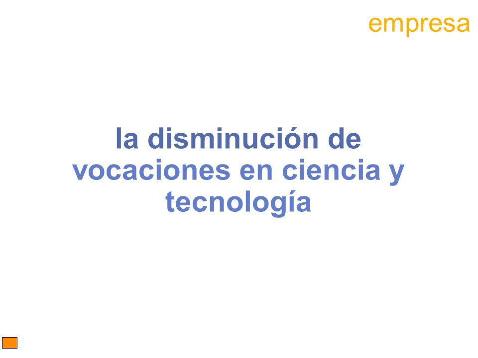 la disminución de vocaciones en ciencia y tecnología empresa