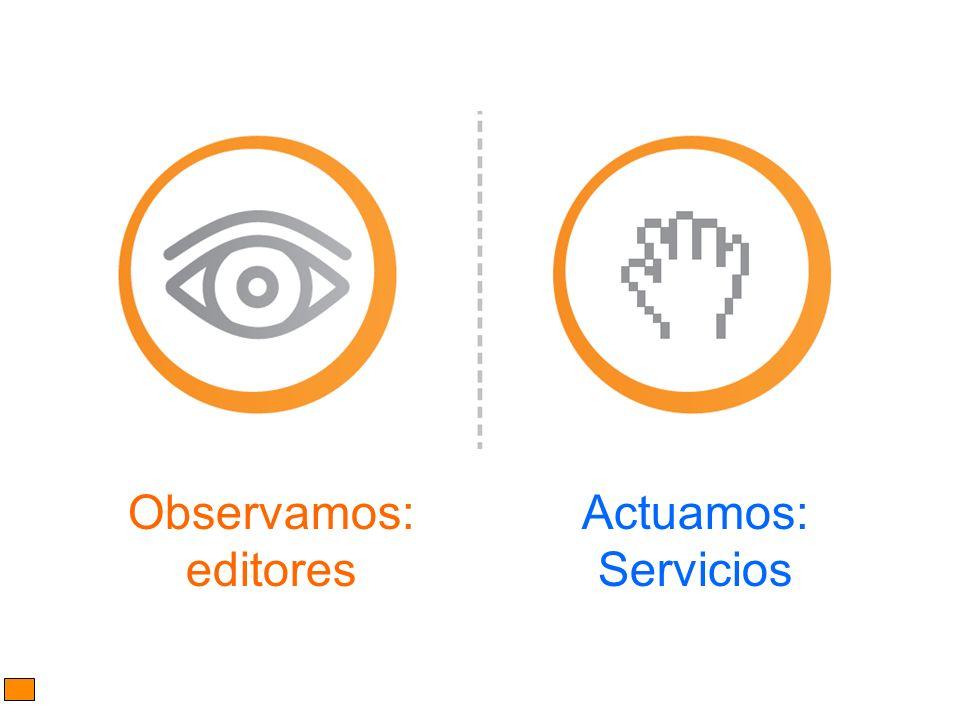 Observamos: editores Actuamos: Servicios