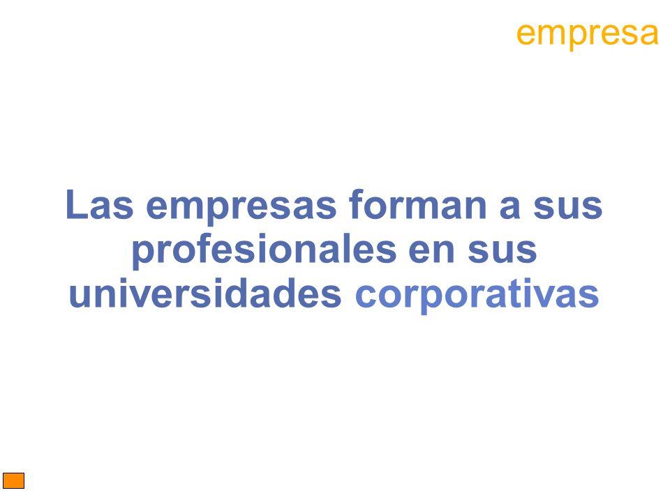 Las empresas forman a sus profesionales en sus universidades corporativas empresa