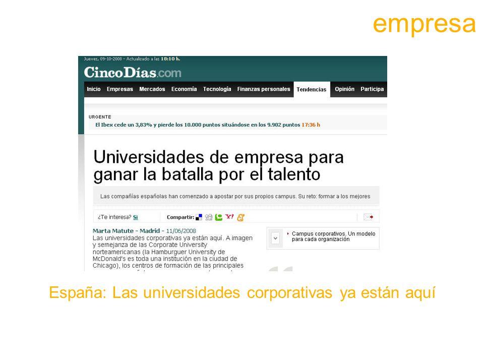 España: Las universidades corporativas ya están aquí