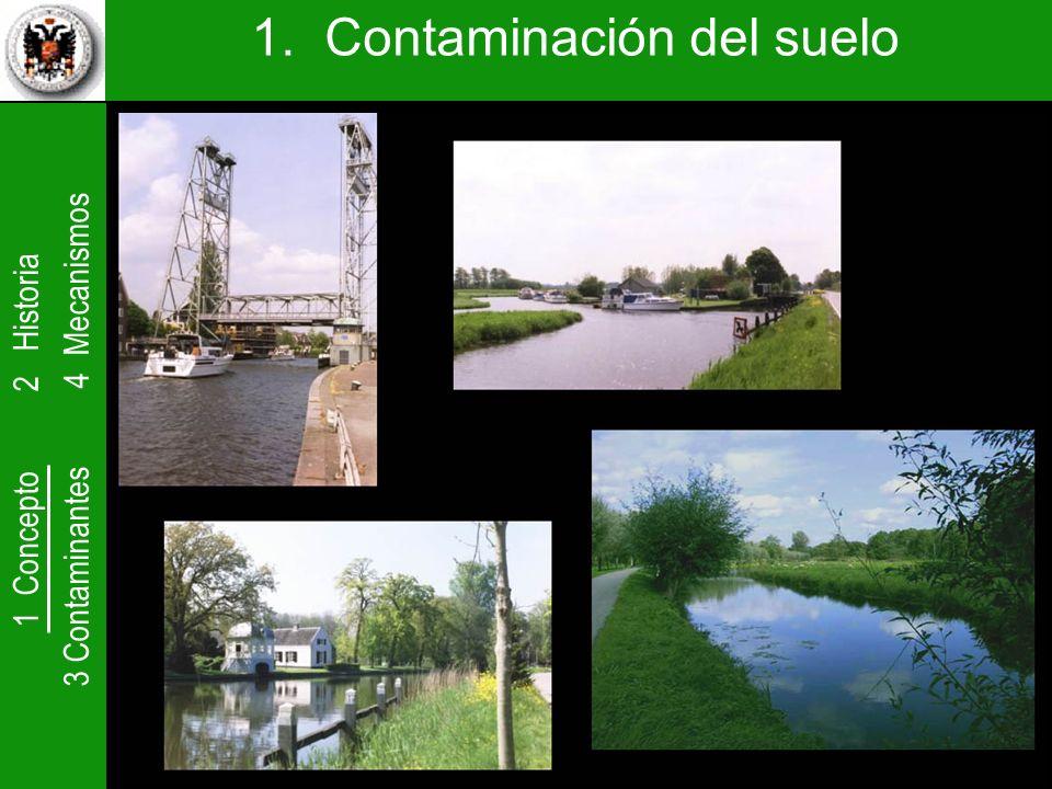 1 Concepto 2 Historia 3 Contaminantes 4 Mecanismos 1. Contaminación del suelo
