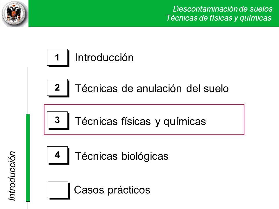 Descontaminación de suelos Técnicas físicas y químicas I.