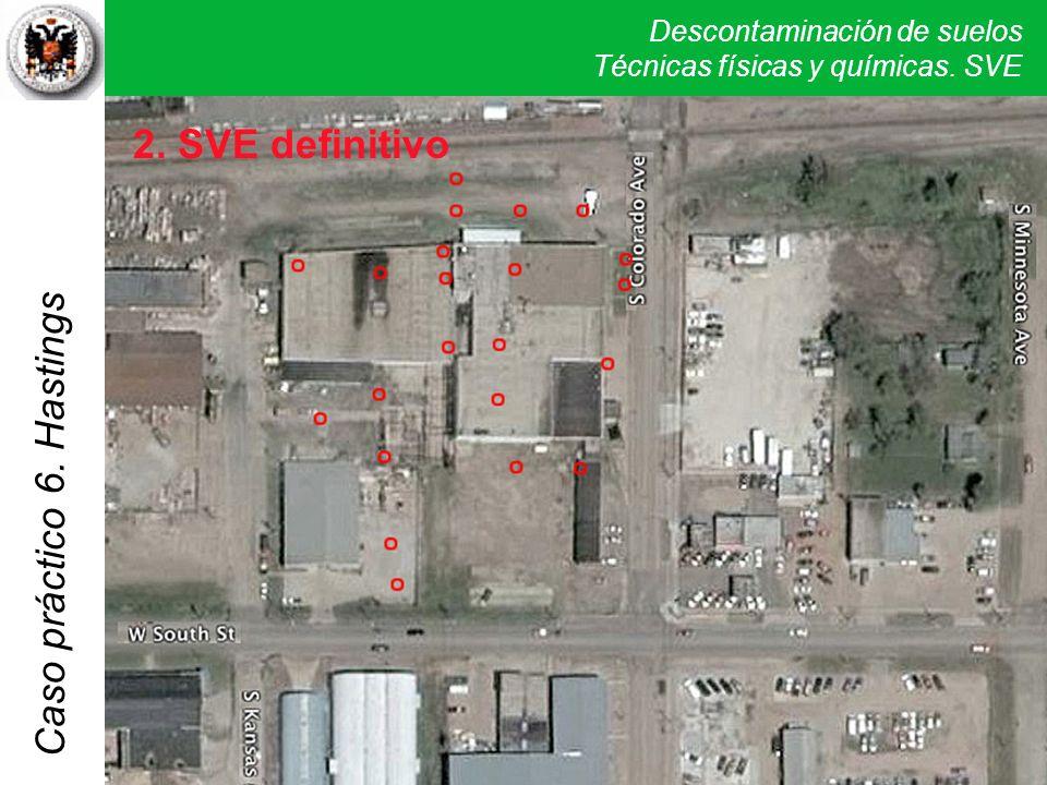 Descontaminación de suelos Técnicas físicas y químicas. SVE Caso práctico 5. Verona 6. Hastings 2. SVE definitivo