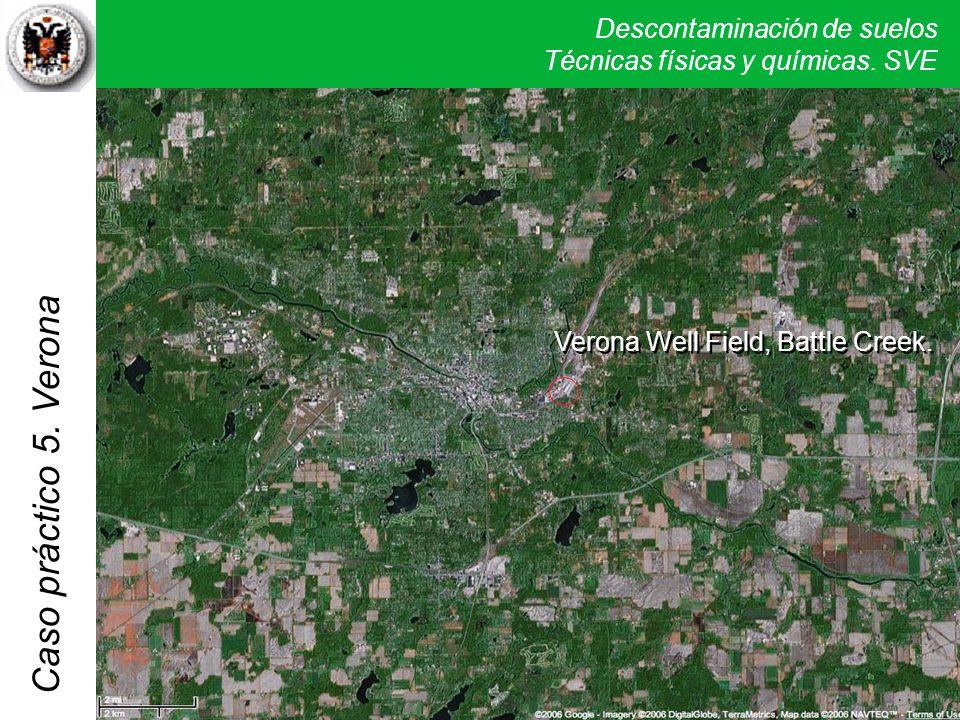 Descontaminación de suelos Técnicas físicas y químicas. SVE Caso práctico 5. Verona Verona Well Field, Battle Creek.