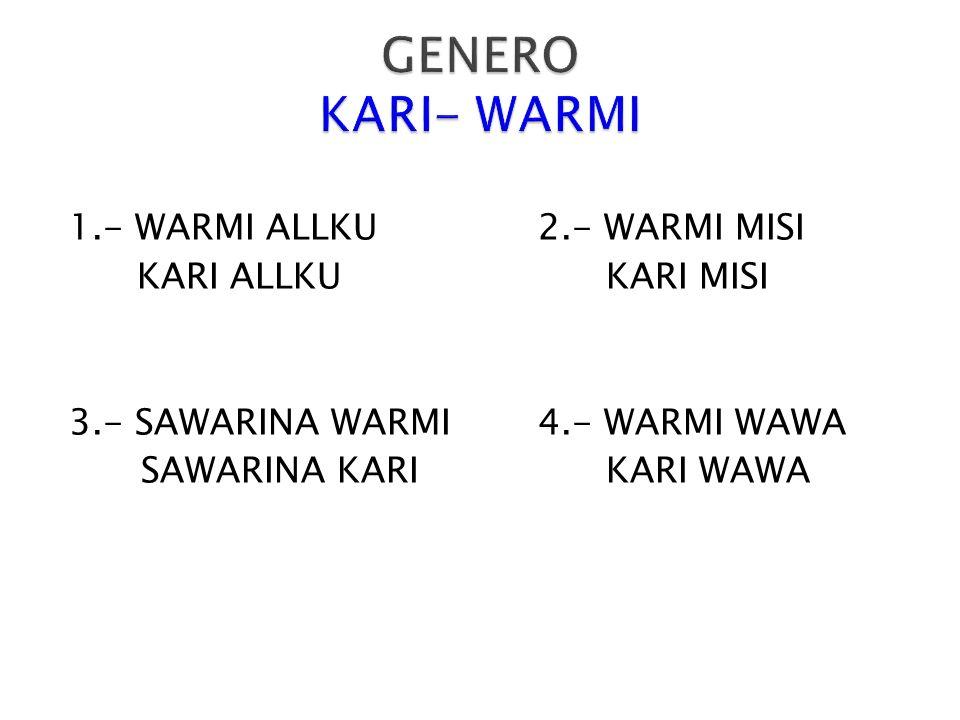 En el kichwa para convertir en plural agregamos –KUNA al final de la palabra así: SISA-KUNASHUWA-KUNA ALLKU-KUNARUMI-KUNA KARI-KUNAWASI-KUNA WARMI-KUNAPAWKAR-KUNA