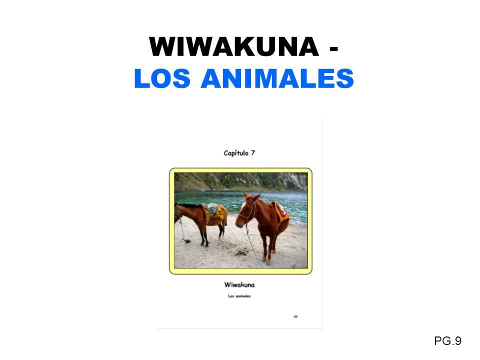 WIWAKUNA - LOS ANIMALES PG.9