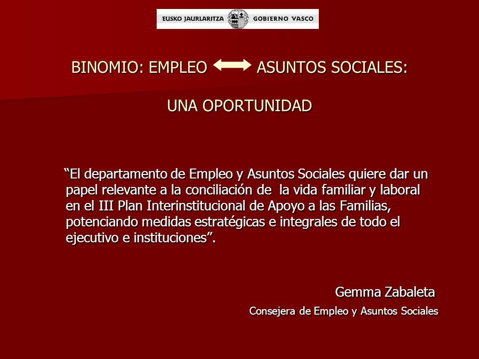 LA LEY 13/2008 DE APOYO A LAS FAMILIAS Y LAS MEDIDAS DE CONCILIACIÓN 2. Medidas en el sistema laboral El Gobierno Vasco fomentará que las empresas ado