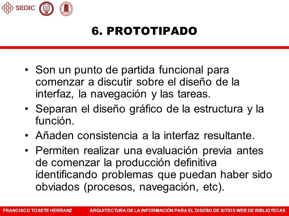 FRANCISCO TOSETE HERRANZARQUITECTURA DE LA INFORMACIÓN PARA EL DISEÑO DE SITIOS WEB DE BIBLIOTECAS Portada de prensa Prototipo detallado 6.