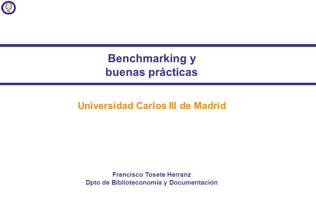 Francisco Tosete Herranz Arquitectura de la Información para el diseño de sitios web Benchmarking y buenas prácticas Universidad Carlos III de Madrid