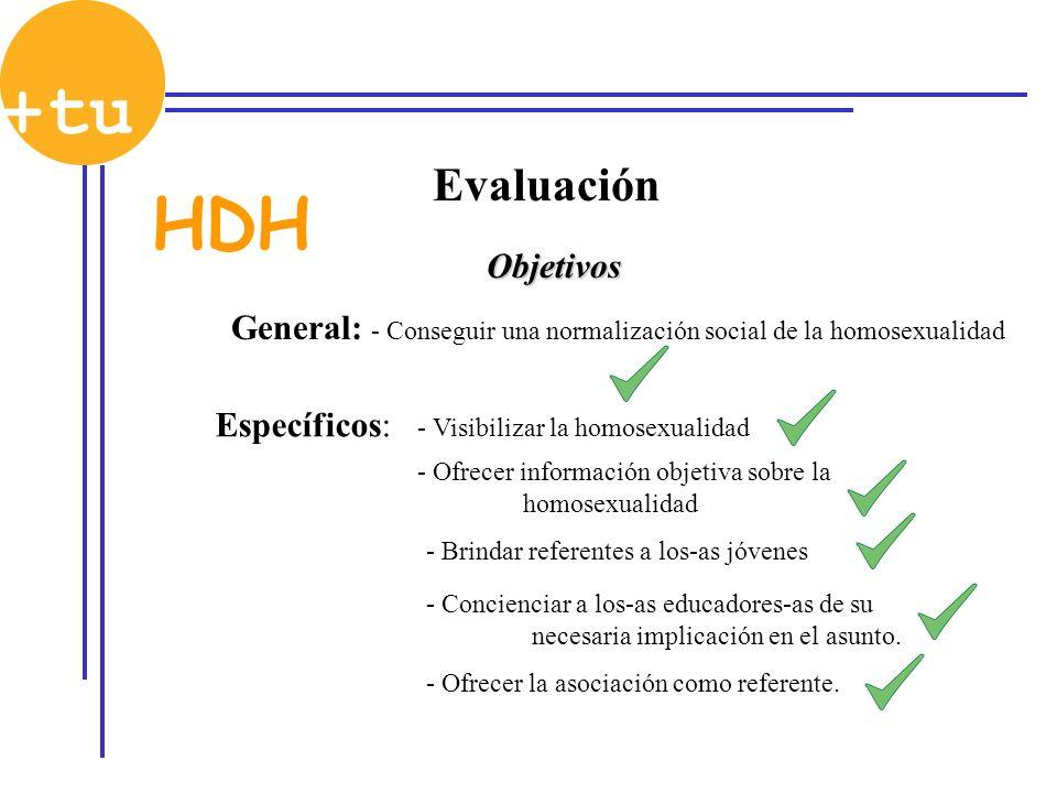 Objetivos General: Específicos: - Visibilizar la homosexualidad - Ofrecer información objetiva sobre la homosexualidad - Brindar referentes a los-as j