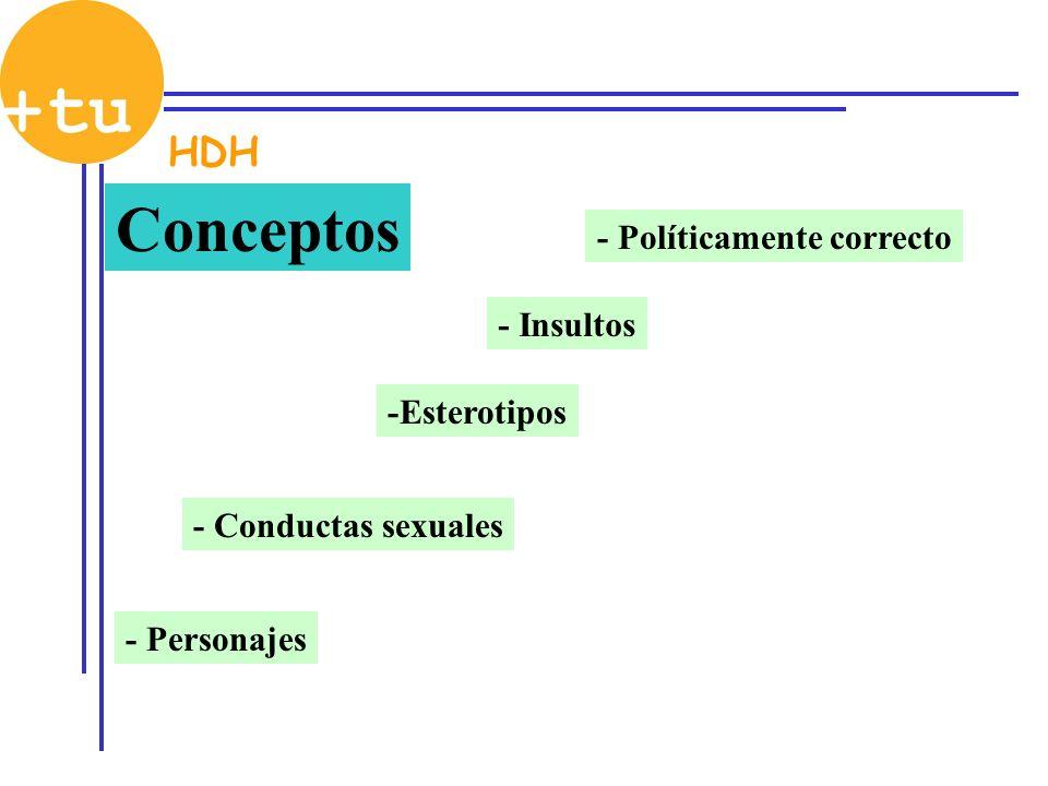 Conceptos - Políticamente correcto Relación entre dos personas Tolerancia Igualdad Mismos derechos Derecho matrimonio Derecho a adoptar Día del orgullo HDH