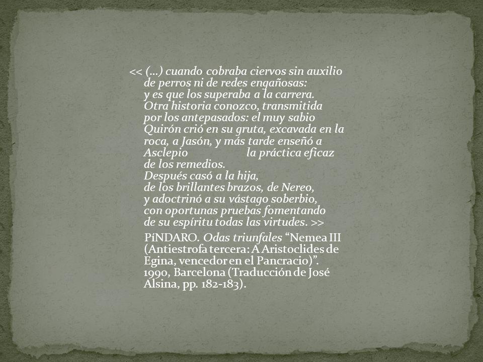 > PíNDARO. Odas triunfales Nemea III (Antiestrofa tercera: A Aristoclides de Egina, vencedor en el Pancracio). 1990, Barcelona (Traducción de José Als