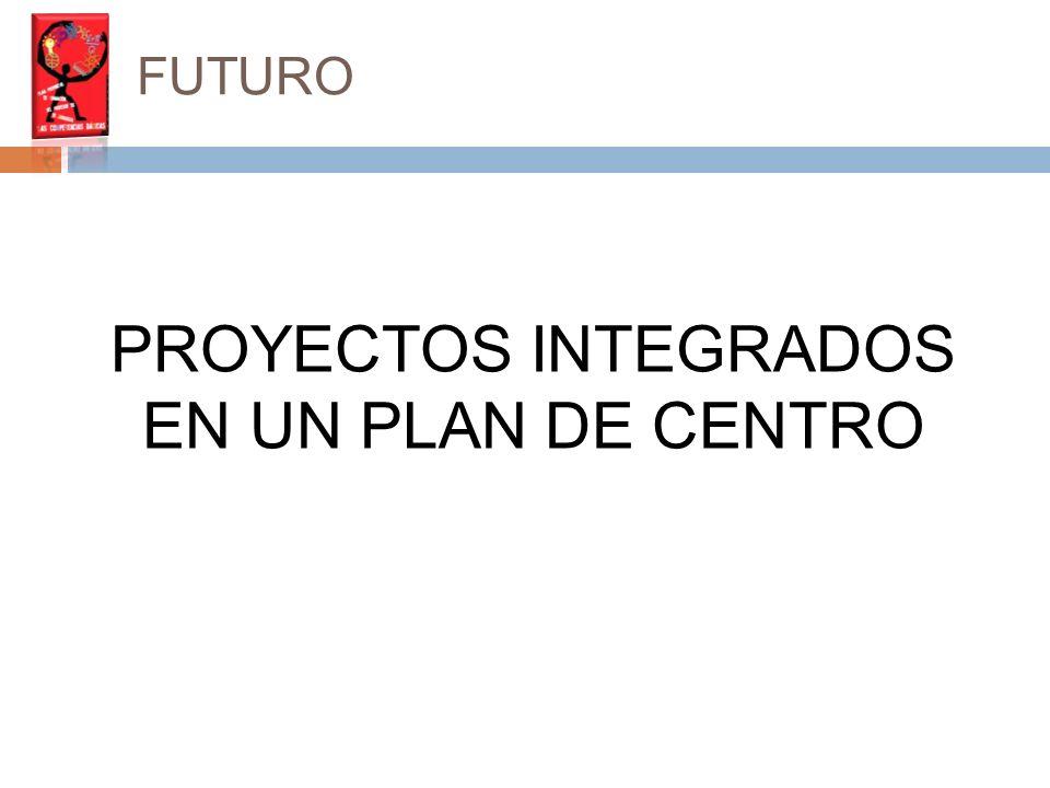 FUTURO PROYECTOS INTEGRADOS EN UN PLAN DE CENTRO