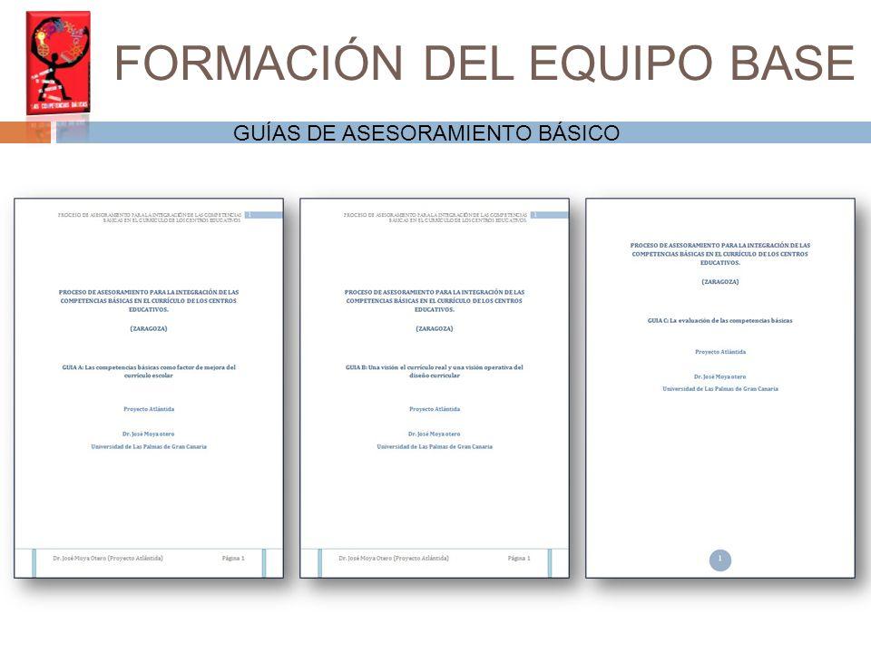 Instrumentos de apoyo al profesorado CONCRECIÓN DE LAS GUÍAS POR PARTE DEL EQUIPO BASE