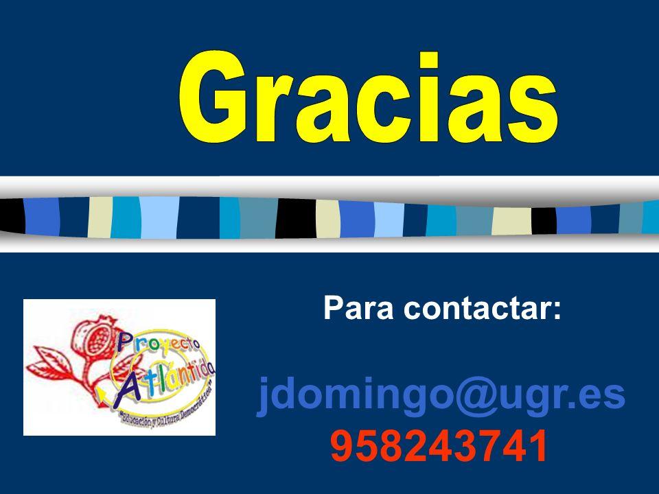 Para contactar: jdomingo@ugr.es 958243741
